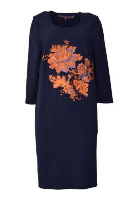 Kleid mit XL-Paisley-embroidery