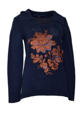 Pulli mit XL-Paisley-embroidery