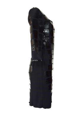 Kleid Kroko Lack Titanecken