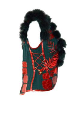 Weste mit Amazonas embroidery