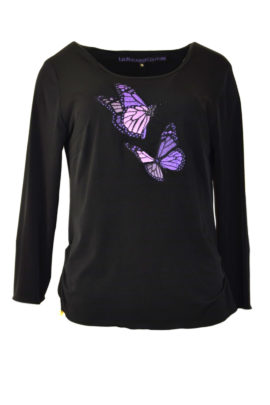 Shirt mit Butterfly-embroidery LA