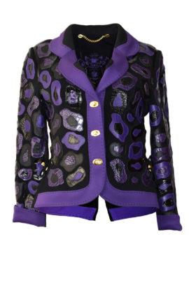 Couture Jacke mit vierlei Leder