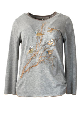 Shirt Winter Birds LA melange