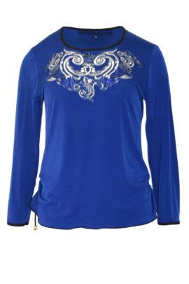 Shirt mit Ornament-embroidery und Kristallen LA