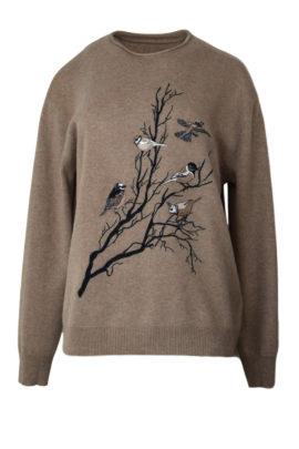 Pulli mit Winter Birds embroidery
