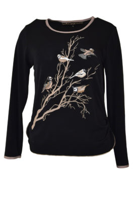 Shirt Winter Birds Jersey LA Winter birds-embroidery