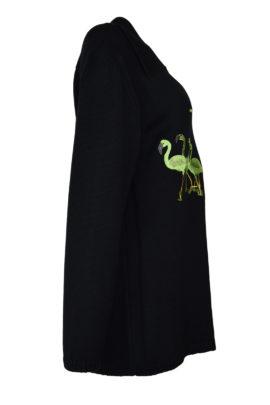 Pulli 100% Baumwolle mit Flamingo embroidery