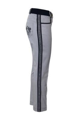 Jeans, grey mit gestickten Bordüre