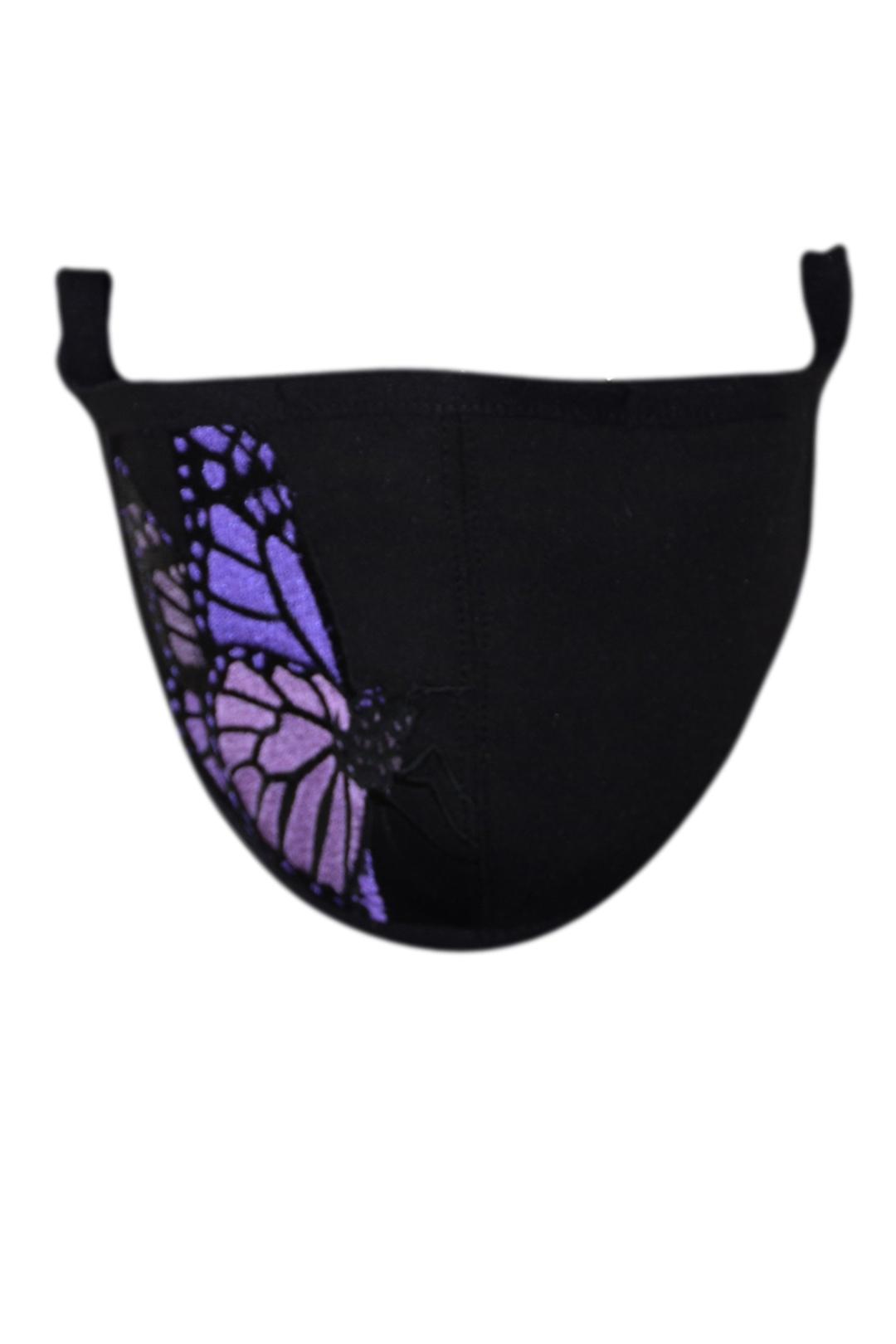 Schutzmaske mit butterfly embroidery