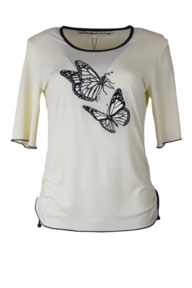 Shirt mit butterfly - embroidery KA