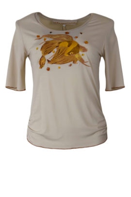 Shirt mit Fighting Fish-embroidery mit Kristallen, KA