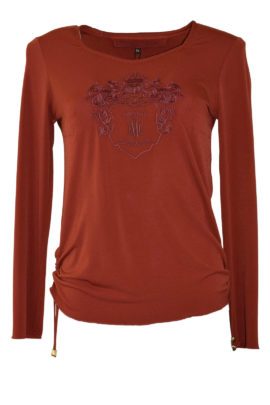 Shirt mit Anaconda-embroidery, red