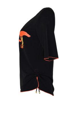 Shirt mit Flamingo embroidery, KA