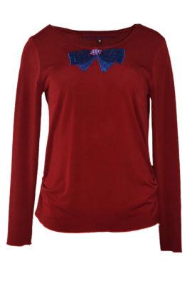 """Shirt mit Kokarde-embroidery"""" und Swarovski-Kristallen"""