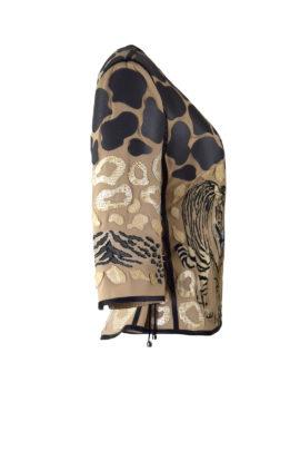 Jacke, Safari mit Tiger-embroidery und zweileirei Patches
