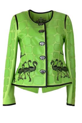 Jacke, Baby Salamander mit Flamingo-embroidery - 2 Motive