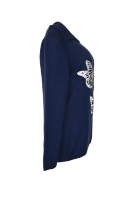 Pulli, 100% Baumwolle mit Butterfly-embroidery