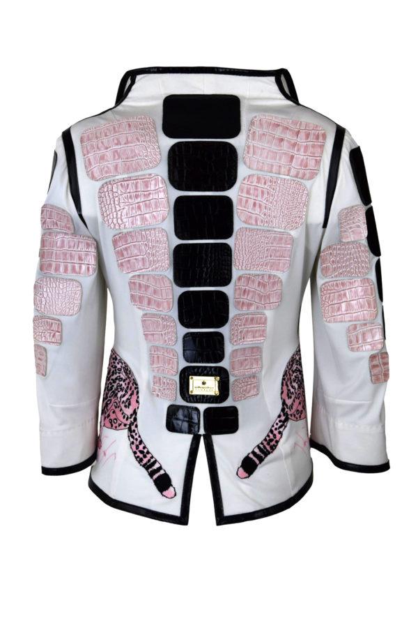 Jacke, mit Gepard-embroidery und Kroko-Patches-2 Motive