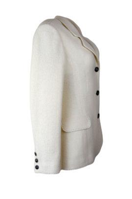 Blazer mit Alaska-embroidery, ecru, elastisches Bouclé