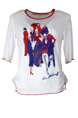 Shirt mit Fashion embroidery, KA, 42.000 stitches