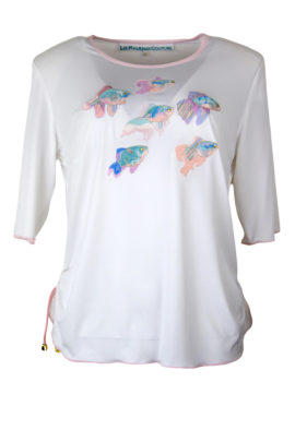 Couture-Shirt, ocean-embroidery Kurzarm, Stitches: 110926