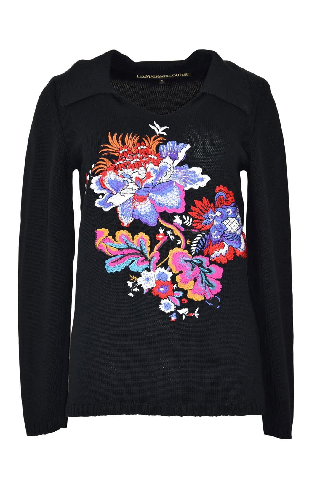 "Pulli mit ""maxi-paisley-embroidery"", 100% Baumwolle"