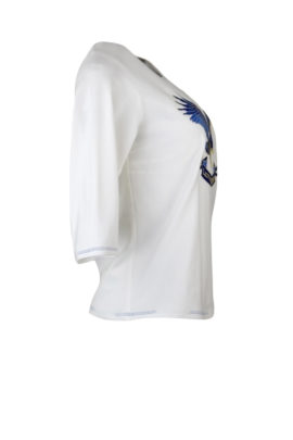 "Shirt mit ""eagle-embroidery"", Kurzarm"