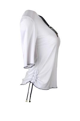 """Shirt mit """"kokarde-embroidery"""" und Swarovski-Kristallen, Kurzarm"""