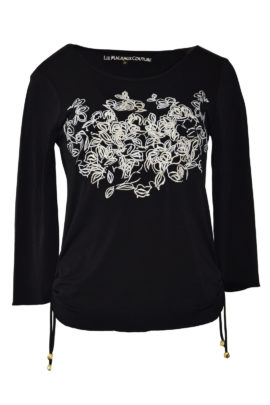 "Shirt mit ""art-flower-embroidery"", Langarm"