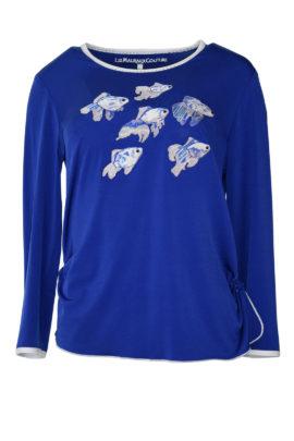 "Shirt mit ""Ocean-embroidery"", Langarm"