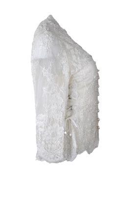Brautjacke, handbestickt mit Perlen und Kristallen