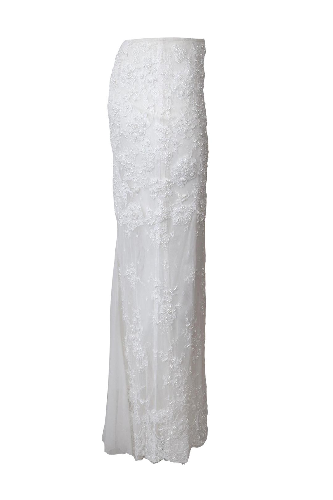 Brautrock, handbestickt mit Perlen und Kristallen