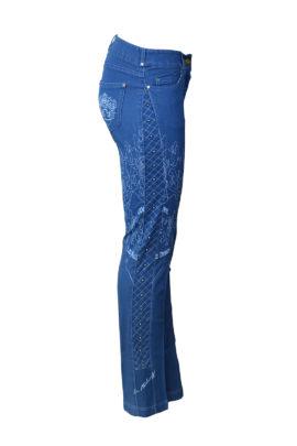 """Jeans mit """"XL-heraldik-embroidery"""" und Nieten"""