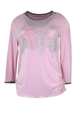 """Shirt mit """"forest-embroidery"""" und Kontrast Einfassung, Langarm"""