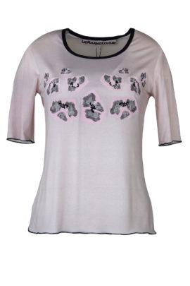 "Shirt mit ""rosenquarz-embroidery"", Kurzarm"
