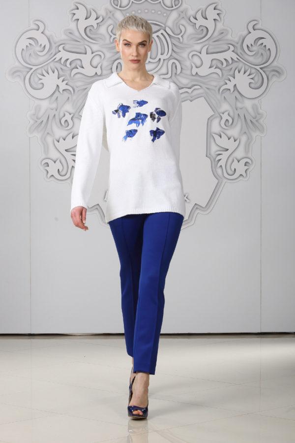 "Pulli mit ""ocean-embroidery"", 100% Baumwolle"