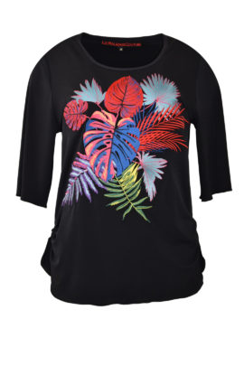 "Shirt mit ""amazonas-embroidery"", Kurzarm"