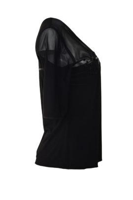 """Couture Shirt, transpatent, """"tupfen-embroidery, appliziert mit Kristallen von Swarovski"""
