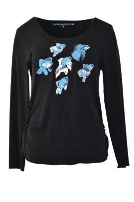"Shirt, mit""ocean-embroidery"", Kurzarm"