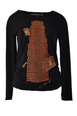 "Shirt mit ""kroko & kroko bags -embroidery"" Langarm"