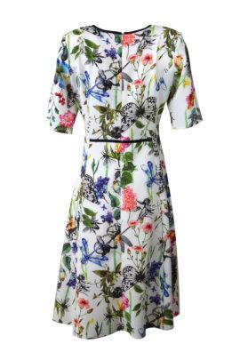 Kleid Masterart Print, Jersey, mit Lackkontrasten