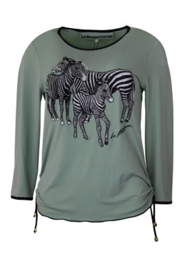 "Shirt mit ""zebra-embroidery"", Langarm"