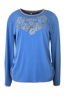 "Shirt mit ""ornament-embroidery"", Kontrasteinfassung, Langarm"