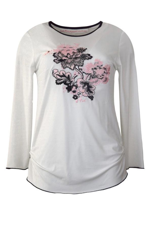 "Shirt mit ""paisley-embroidery"",Langarm"