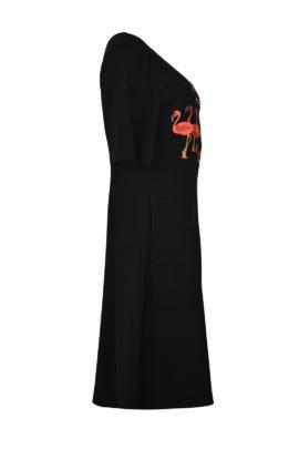 """Kleid mit """"flamingo-embroidery"""", mit Taschen"""
