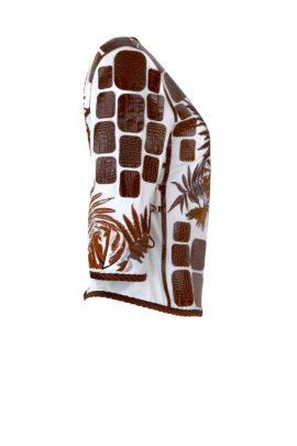 """Krokojacke mit """"amazonas-embroidery"""" 3/4 Arm"""