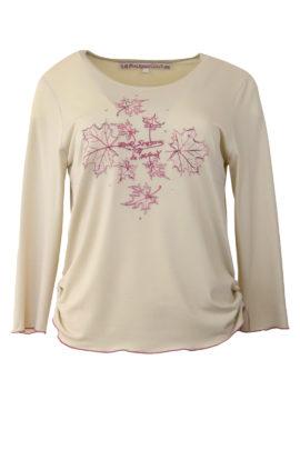 """Shirt mit """"four season-embroidery"""", Langarm"""