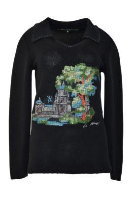 "Pulli mit ""gobelin-embroidery"", 100% Baumwolle, stitches: 129.900"