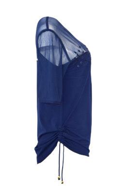 """Couture Shirt, transpatent,""""tupfen-embroidery, appliziert mit Kristallen von Svarovski"""