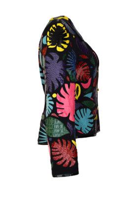 Jacke mit Amazonas-Krokoblättern in multicolor